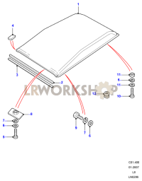 Roof Assembly Part Diagram