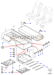 Seat Base Assembly Part Diagram