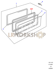 Side Window - Fixed Part Diagram