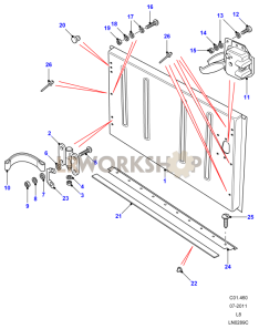 Tailboard Assembly Lower - Side Hinged Part Diagram