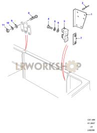 Tailboard Lower Side Hinged Striker Part Diagram