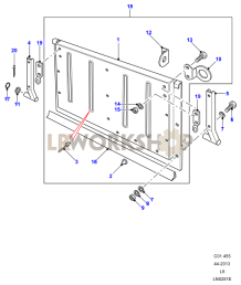 Tailboard Assy Lower - Lower Hinged Part Diagram