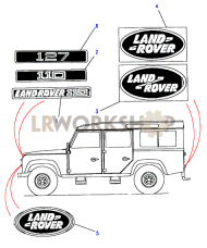 Decals & Badges - 110/130 Part Diagram