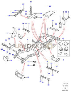 Chassis Frame Assembly Part Diagram