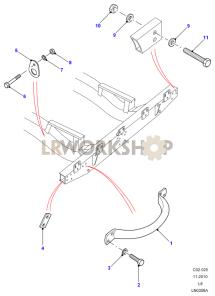 Lifting Handle & Lashing Ring Part Diagram