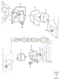 Transmission Mount Part Diagram