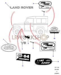 Decals & Badges - Special Editions Part Diagram