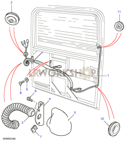 Rear Door/Tailgate  Loom Part Diagram