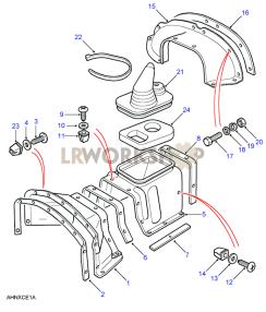 Diaphragm & Tunnel Panels Part Diagram