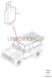 One Touch Rear Fog Lamp ECU Part Diagram