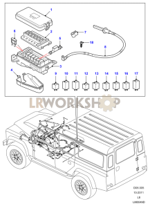 Defender Under Bonnet Fuse Box