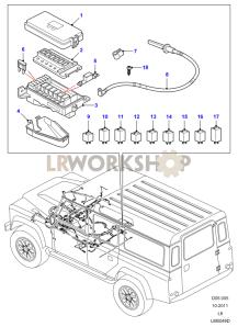fuse box diagrams - find land rover parts at lr workshop  lr workshop