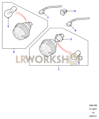 Lamps - Front - Side And Indicator Part Diagram