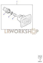 Side Repeater Part Diagram