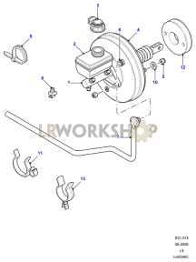 Master Cylinder & Servo Part Diagram