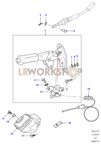 Handbrake Lever Part Diagram