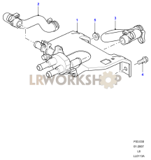 Heater Pipes And Valve Assembly Part Diagram