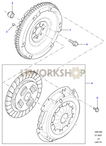Clutch and Flywheel Part Diagram