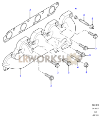 Exhaust Manifold Part Diagram