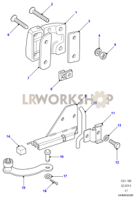 Front Door Hinges & Check Strap Part Diagram