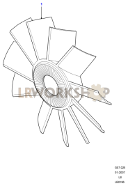 Radiator Fan Part Diagram