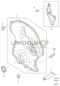 Timing Chain Cover Part Diagram