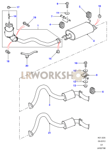 Exhaust System 90 Part Diagram