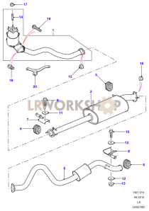Exhaust System 110 Part Diagram