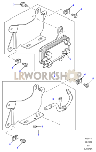 Fuel Cooler Assembly Part Diagram
