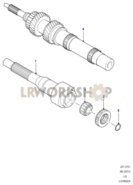 Input Shaft, Gear Sets and Bearings Part Diagram