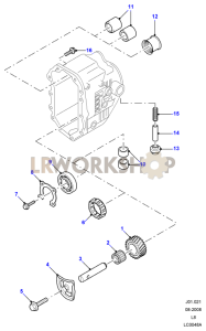 Manual Transmission External Components Part Diagram