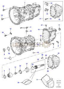 Manual Transaxle and Case Part Diagram