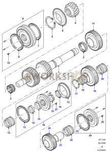 Output Shaft 1 Part Diagram
