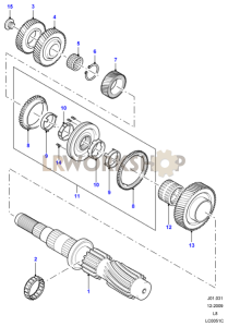 Output Shaft 2 Part Diagram