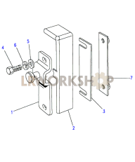 Front Door Latch Striker Part Diagram