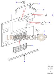 Hecktür - Verkleidung Part Diagram