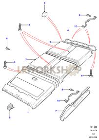 Guarnecidodel Techo Part Diagram