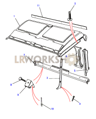 Roof Trim Part Diagram