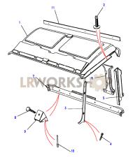 Verkleidung - Dach Part Diagram