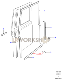 Front Door Seals Part Diagram