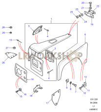 Front Wing Assembly Part Diagram