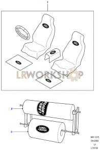 Seat Coverings Part Diagram