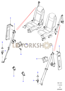 Rear Seat Belts Part Diagram