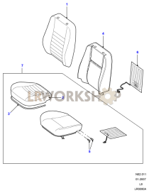 Front Seat Covers Part Diagram