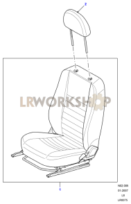 Front Seat - With Head Restraint Part Diagram