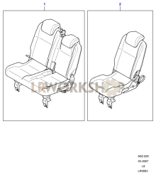 Second Row Seats Part Diagram