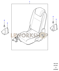Load Area Rear Seats Part Diagram