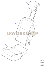 Load Area Rear Seat Covers Part Diagram