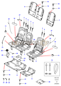 Second Row Seat Frame Part Diagram