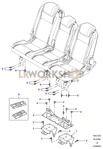 Second Row Seat Mounting Part Diagram